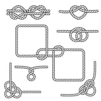航海用ロープの結び目