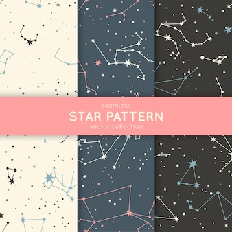 Набор бесшовные звезды.