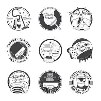Набор старинных логотипов