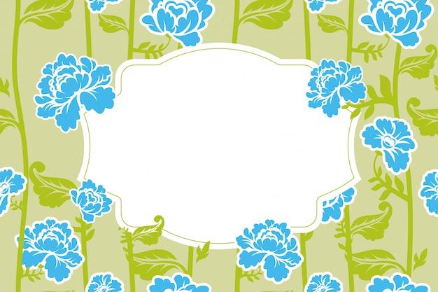 フレームローズビンテージ背景。古い花