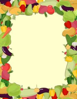 カラフルな野菜フレーム