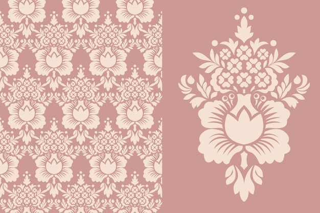 シームレスなビンテージ壁紙。オールドロイヤルパターン。