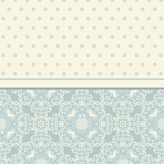 花飾りデザインのベクトルビンテージカード