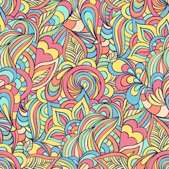 Бесшовный фон с абстрактными цветами