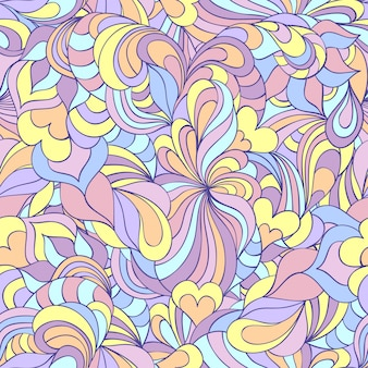 カラフルな抽象的なシームレスパターンのベクトルイラスト。