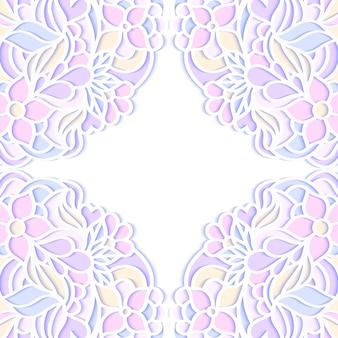 カラフルな花のフレーム