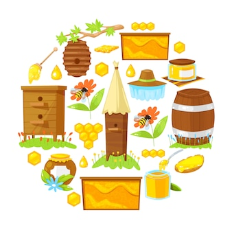 Мультфильм элементы пчеловодства
