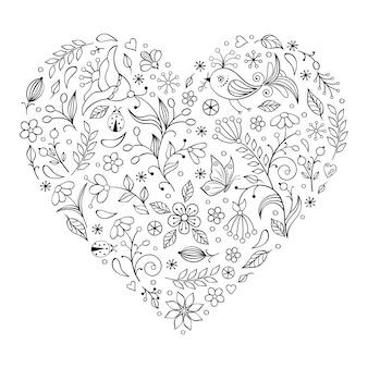 花のバレンタインハート