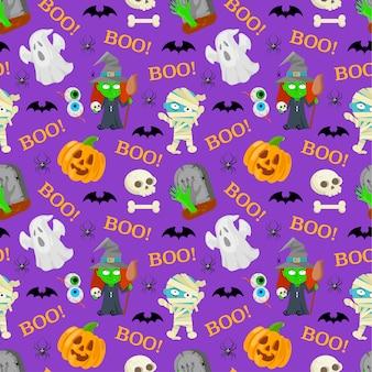 Бесшовный фон на хэллоуин