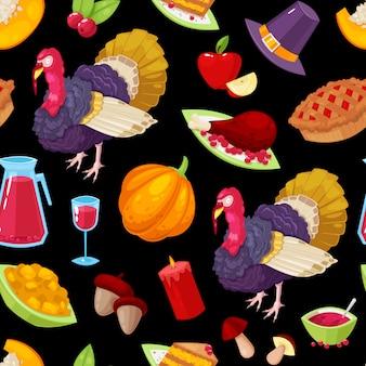 感謝祭の日のシームレスパターン