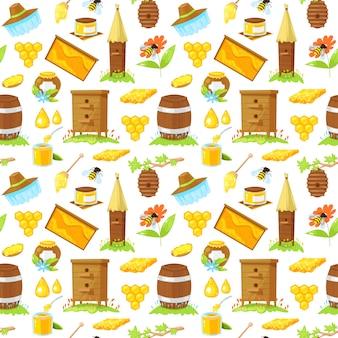 養蜂の漫画要素のパターン