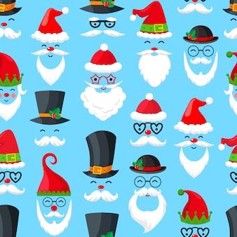 サンタクロースとのシームレスなパターン