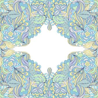 Красочная абстрактная цветочная рамка.