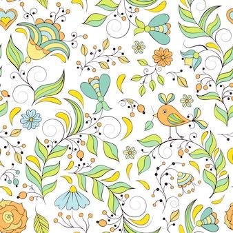 抽象的な花のパターン