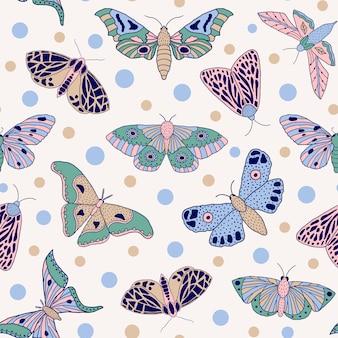 Бабочка бесшовный фон