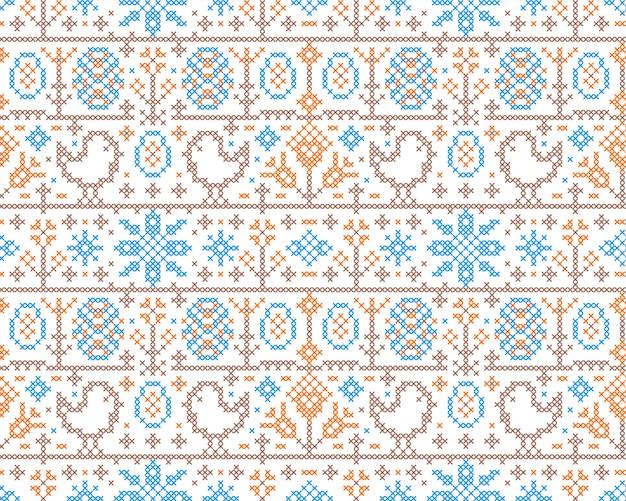 クロスステッチ刺繍パターン