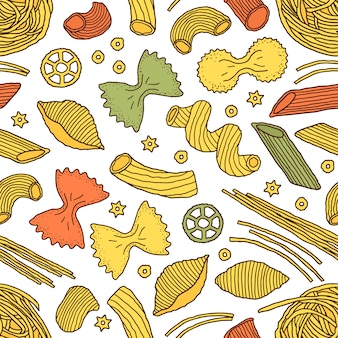 Узор с макаронами
