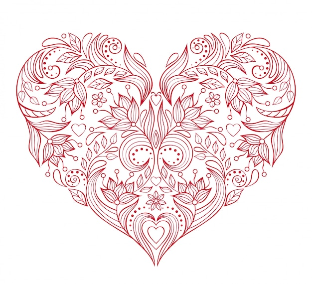 花バレンタインハート