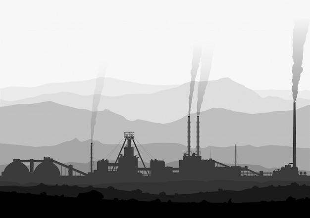 鉱山の肥料は大きな山に植えられています。