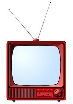 赤いレトロなテレビ