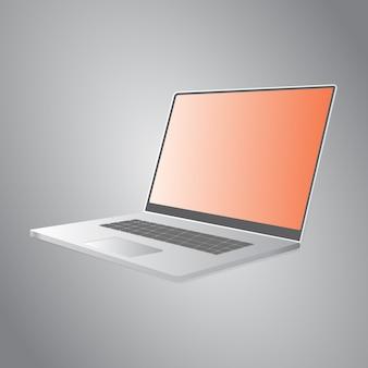 Макет изометрического шаблона для ноутбука