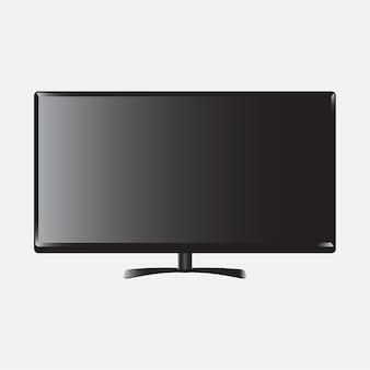現実的なテレビモニタテンプレートモックアップ
