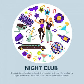 Ночной клуб рекламный плакат