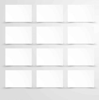 Пустой чистый лист бумаги с белыми прямоугольниками плакаты копией пространства