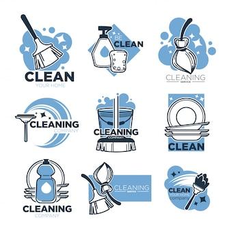 Услуги по уборке, чистые инструменты для домашнего хозяйства