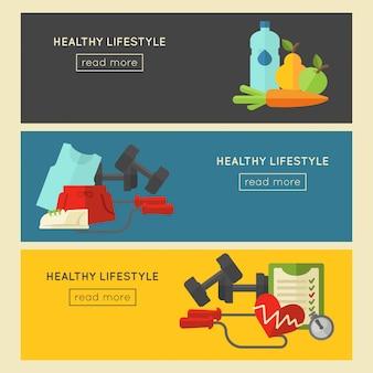 健康的な生活様式。ベクトルウェルネスコンセプト