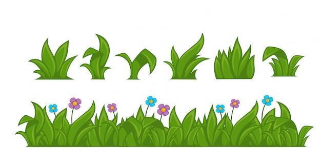緑の草。ベクトルイラスト