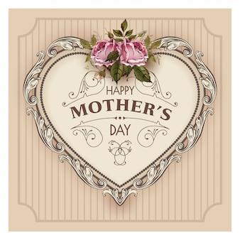 幸せな母の日のベクトル図