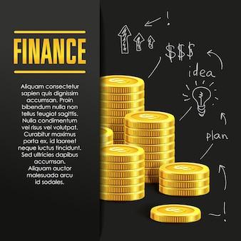 Финансы плакат или баннер дизайн шаблона