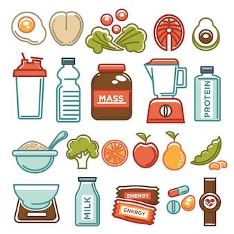 健康的なライフスタイルとフィットネス食品の栄養