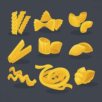 Векторный набор продуктов из пшеницы