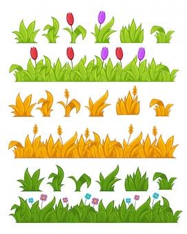 緑の芝生のベクトル図