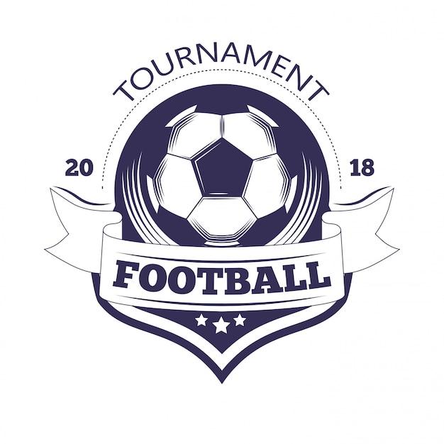 サッカークラブやサッカーチームリーグのロゴのテンプレート。