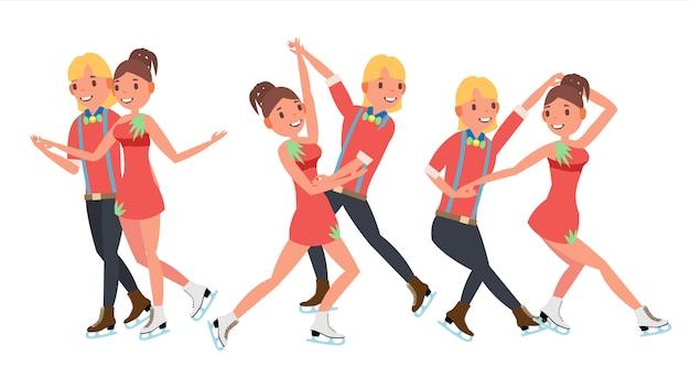 ペアフィギュアスケートカップル