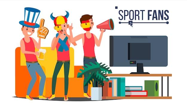 Группа спортивных болельщиков