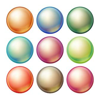 丸いガラス球。