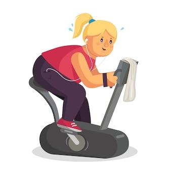 太った女性のトレーニング