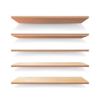 空の木製棚