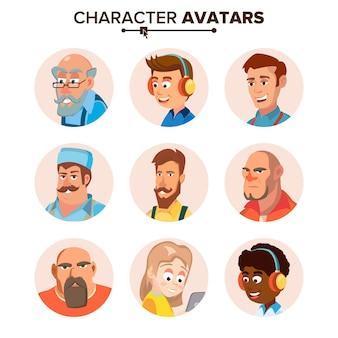 人のキャラクターのアバターセット。