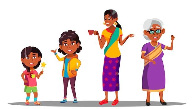 インドの世代の女性