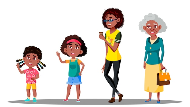 アフリカ系アメリカ人の世代の女性