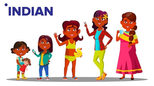 Женщина индийского поколения