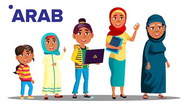 アラブ、イスラム教徒の世代の女性