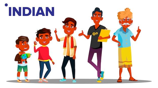 インドの世代の男性