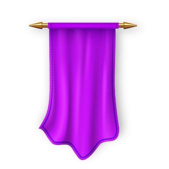Фиолетовый пеннат флаг