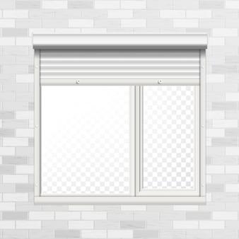 ローリングシャッター付きの窓